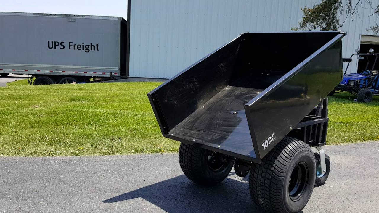 Motorized dump cart with trailer dolly option for sale for Motorized carts for sale