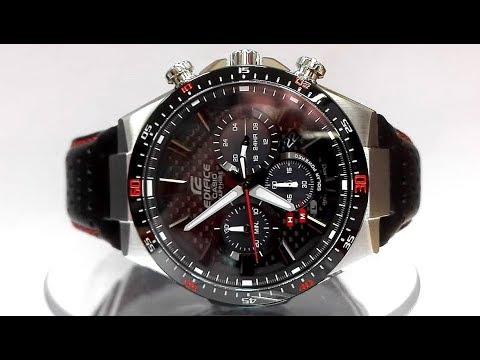 ea7f0468682f Casio Edifice EFS-S520CBL-1A Saphire Solar powered watch video 2018 ...