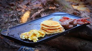 Cooking Breakfast in the Woods