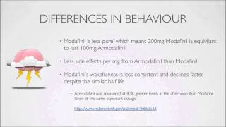 Armodafinil vs Modafinil - the difference between the two, part 5 of 6.(, 2014-11-29T06:57:29.000Z)