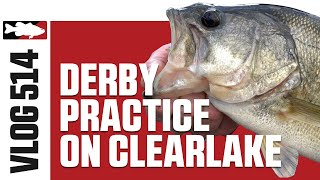 MLF Pro Jared Lintner & Corey Prefishing for ABA Tournament on Clearlake Part 1 - TW VLOG #514