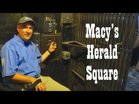Behind the Scenes @ Macy's Herald Square NYC - Tour of the Freight Elevators and Machine Room