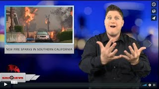 New fire sparks in Southern California (ASL - 11.14.18)