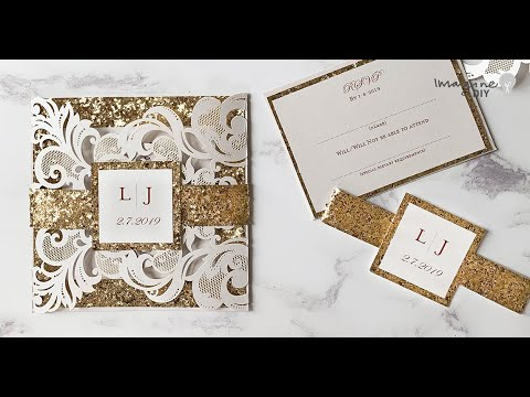 Make Your Own Invitation Wrap Diy Wedding Idea Monogram Belly Band