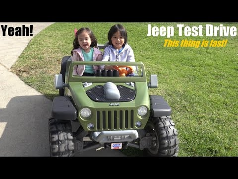 Fisher Price's Ride-On Power Wheels: This Jeep Wrangler Hurricane Is Fast!