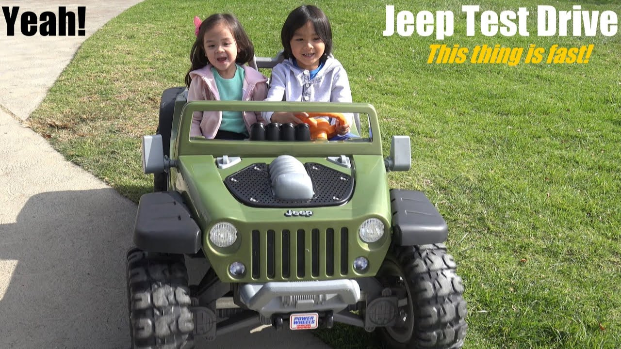 Fisher Price S Ride On Power Wheels This Jeep Wrangler Hurricane Is Fast Youtube