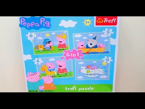 Свинка Пепа пазл для детей 4 пазла Собираем пазлы Свинки Пепа