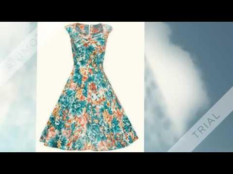 Rockabilly Kleid Schwingenkleid Audrey Hepburn Petticoat Emp - YouTube