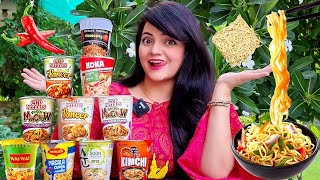 Trying every CUP NOODLES | Food Vlog