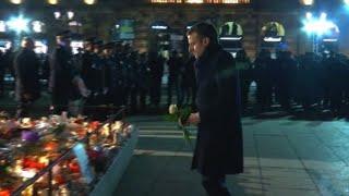 Macron rend hommage aux victimes de l'attentat de Strasbourg
