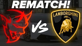Rematch! Dodge Srt Demon Vs Lamborghini Huracan 1/4 Mile Drag Race