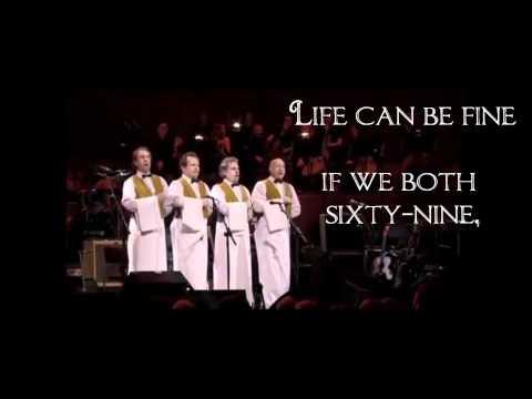 Monty Python - Sit on my Face, Live (with Lyrics).