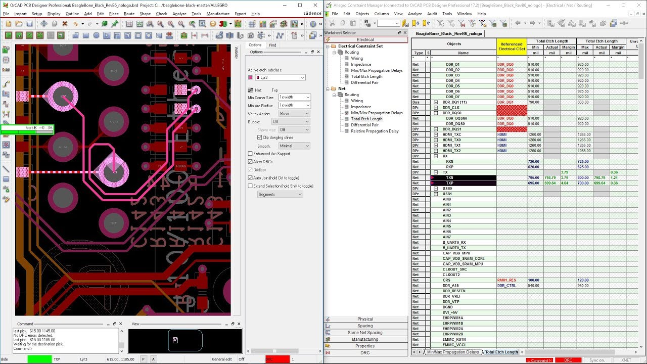 Cadence OrCAD Constraint Manager