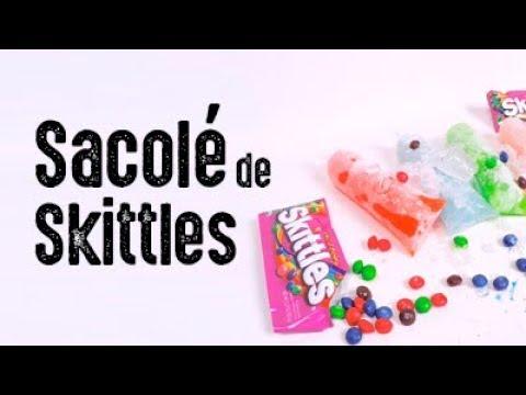 Sacolé de Skittles