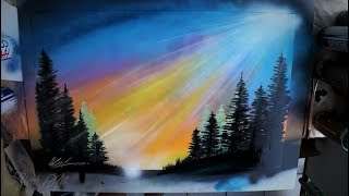 Sun rays - SPRAY PAINT ART by Skech