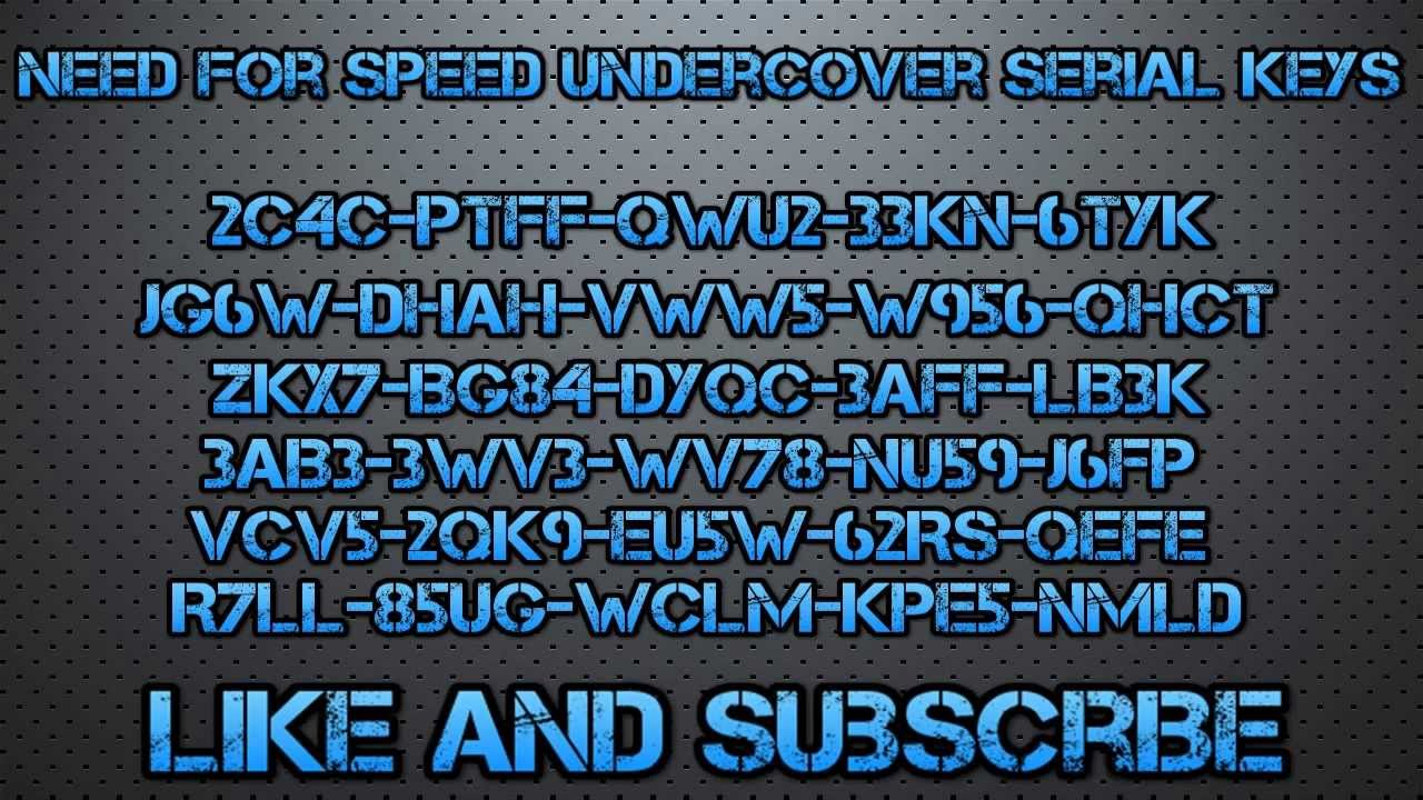 Keygen For Need For Speed Undercover PC