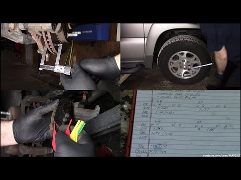 2004 Chevy Tahoe brake inspection (inspection only - NO repairs shown)