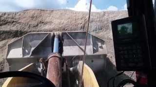 Rock quarry truck loading.