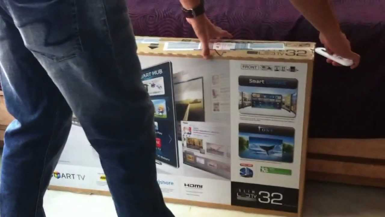 Samsung Smart 32inch 3d Led Tv Series 6 6220 Unboxing India