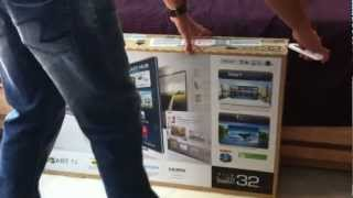 Samsung Smart 32inch 3D LED TV Series 6-(6220) UNBOXING (INDIA)