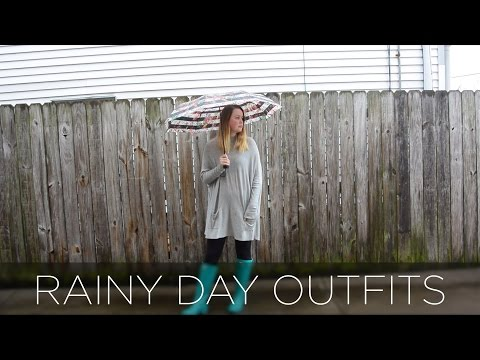RAINY DAY OUTFITS | Mariah Baker