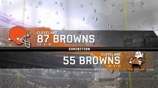 1987 Cleveland Browns vs. 1955 Cleveland Browns
