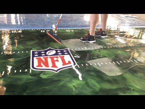 Super Bowl XLIV Metallic Epoxy Floor With Decals!