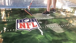 Super Bowl XLIV Metallic Epoxy Floor With Decals!
