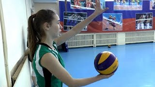 Волейбол обучение. Девушки. Подача. Тренировка. Часть 13