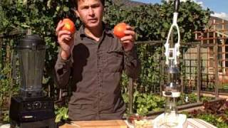 Raw Food Recipe - Fresh Greens With Tangerine Creamsicle Salad Dressing