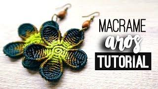 Aros flor redonda » 🌼 tutorial | como hacer | diy ● Earrings #107