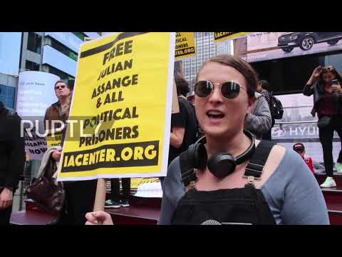 USA: Assange supporters rally for whistleblower