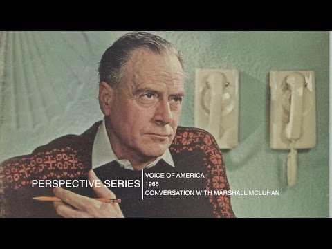 Marshall McLuhan 1966 - Full talk with Prof. Eric Goldman Princeton University