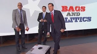 Rick Santorum on the Stump: Tosses Bags and Talks Trump