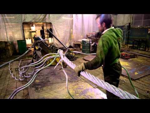 Редкая профессия. Заплёт троса. Самый тяжёлый ручной труд.