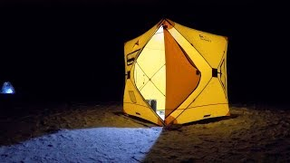 Ловля КРУПНОЙ ПЛОТВЫ ВЕЧЕРОМ в уютной палатке