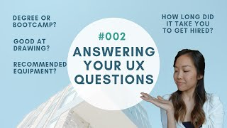 Good at drawing? Which laptop? From UX bootcamp to hire? Bootcamp prep? | Answering your UX Qs #002