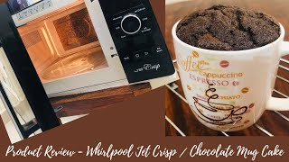 Product Review - Whirlpool Jet Crisp Convection Microwave Oven Chocolate Mug cake in Tamil