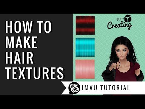 Making Hair Textures | Gimp | IMVU | ** UPDATED VERSION IN DESCRIPTION**