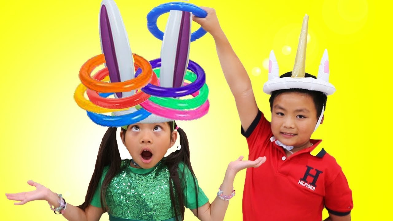 Emma Pretend Play Learn Colors w Fun Colored Inflatable Kids Toys