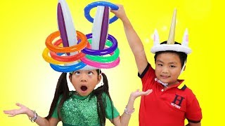 Download Emma Pretend Play Learn Colors w/ Fun Colored Inflatable Kids Toys Mp3 and Videos