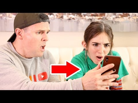 DAUGHTER REACTS TO DADS CAMERA ROLL