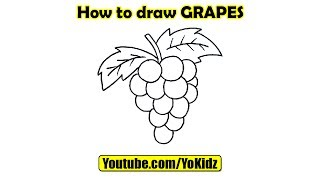 How to draw GRAPES - Stafaband