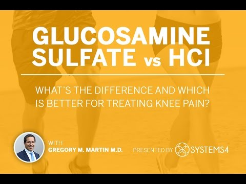 Glucosamine Sulfate Vs HCl – What's The Difference And Which Is Better For Treating Knee Pain?