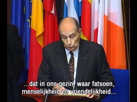 Speech van François Mitterand voor het europees parlement 17 jan 1995.mkv