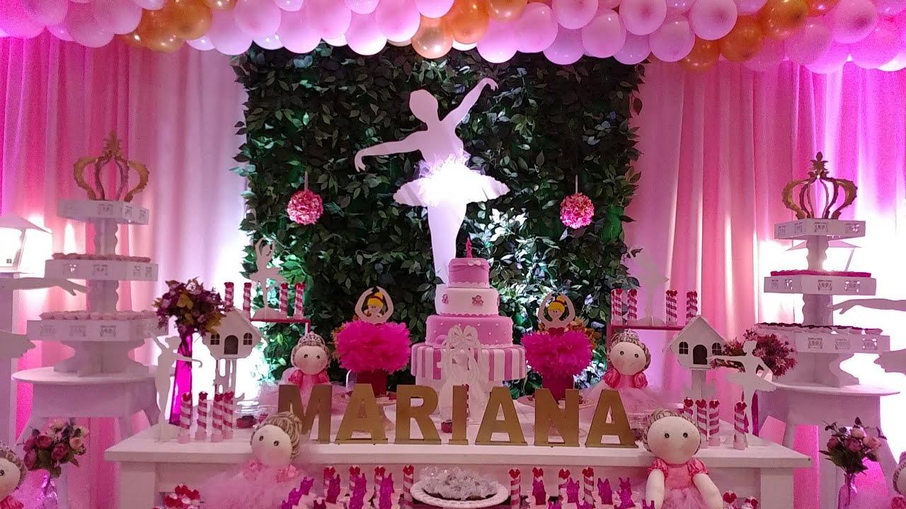 fe2f41daa6 Mariana 6 anos - Festa Bailarina - YouTube