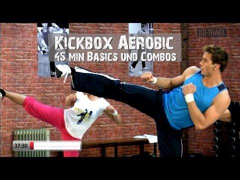 Kickbox Aerobic Basic Cardio Workout 45min