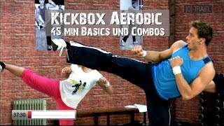 Kickbox Aerobic Basic Cardio Workout 45min