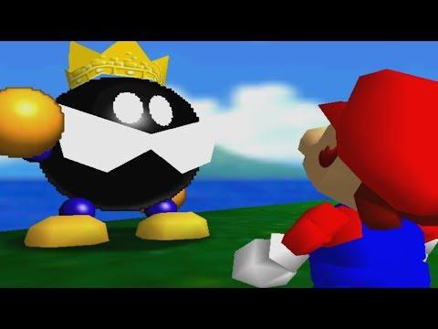 Super Mario 64 100% Walkthrough Part 1 - Bob-omb Battlefield & Whomp's Fortress