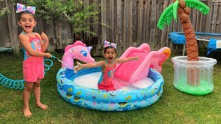 Sally Play with Inflatable Water Toys
